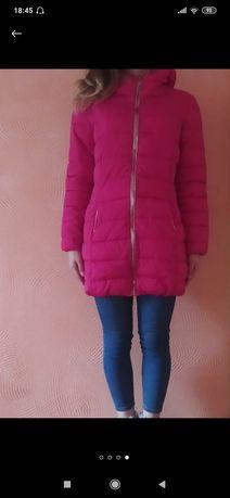 Яркое деммимизонное пальто осень-зима