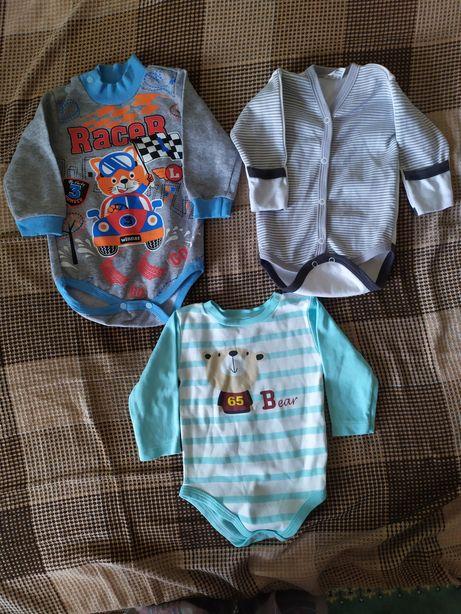 НОВЫЕ бодики, костюмы летние, осенние, зимние на малышей от 3 до 9 мес