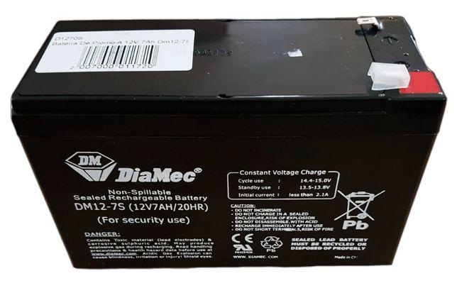 Bateria selada chumbo 12v 7ah nova para carrinhos eletricos