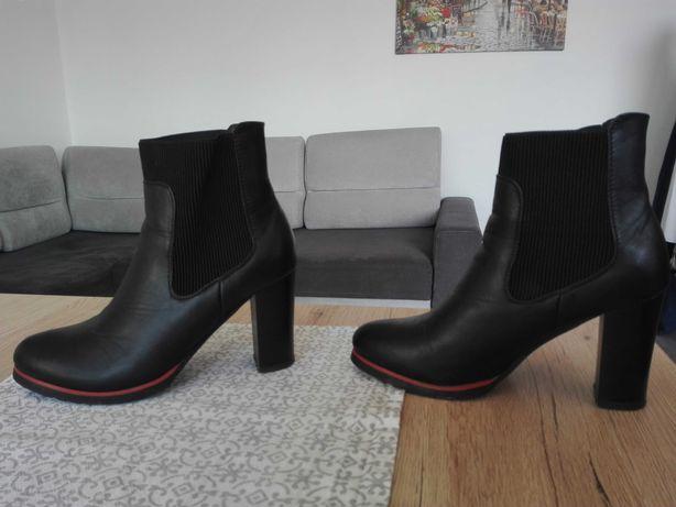 Buty czarne za kostkę 37