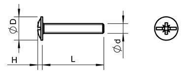 Болт оцинкований М4х22