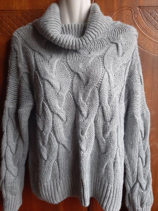 Актуальный объемный свитер-оверсайз пр-во Италия р. 10 Харьков - изображение 1
