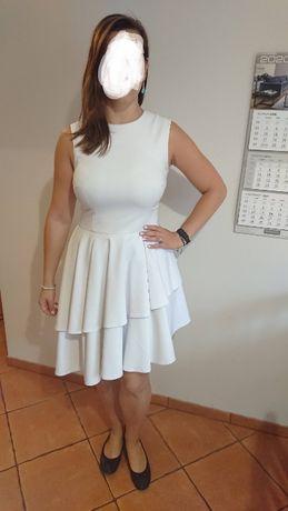 Sukienka koktajlowa złamana biel r. 38 Mohito