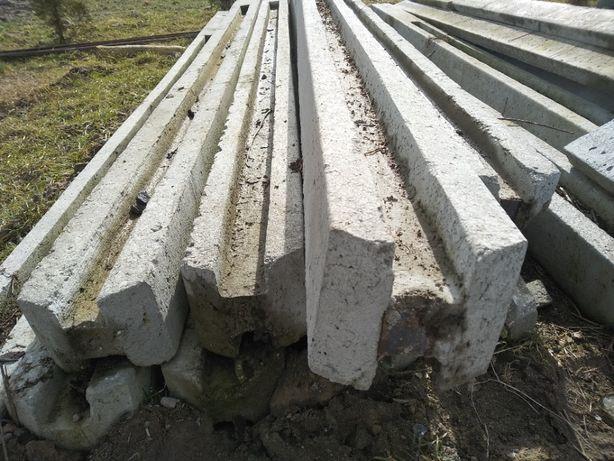 słupek betonowy wys. 3,5 m