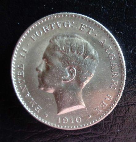 Mil Réis Prata 1910 D. Manuel II Guerra Peninsular