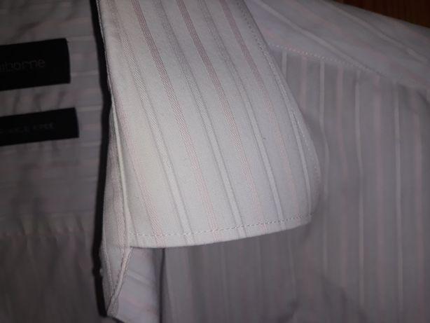 Elegancka koszula męska Claiborne L 32/33 mankiety na spinki
