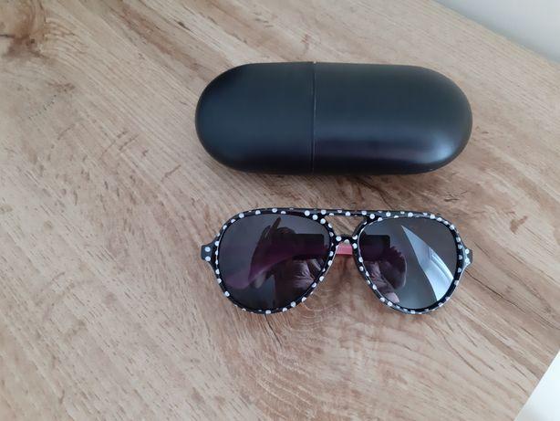 Nowe okulary przeciwsloneczne w twardym etui