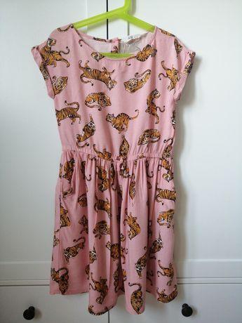 Sukienka w tygrysy h&m 134