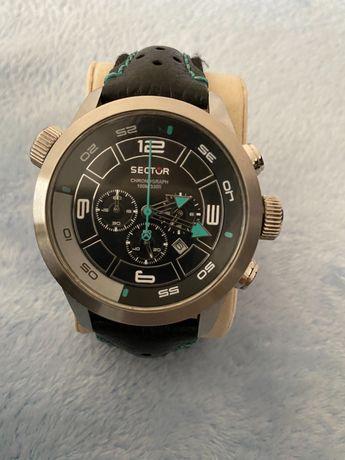 Relógio sector completamente novo pulseira em pele
