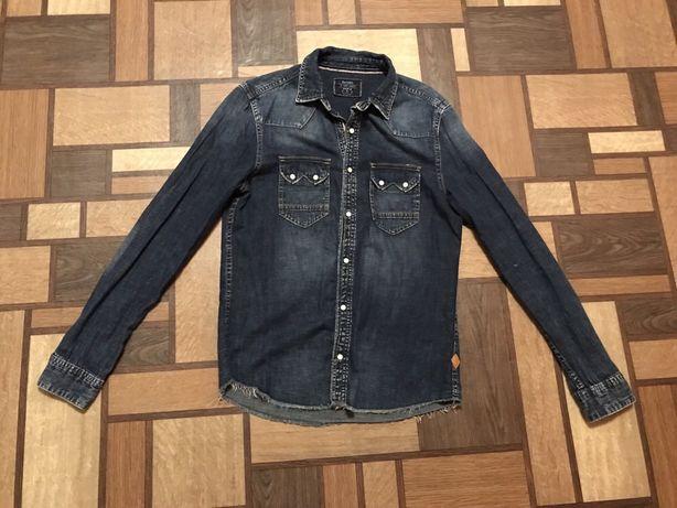 Рубашка bershka джинсовая