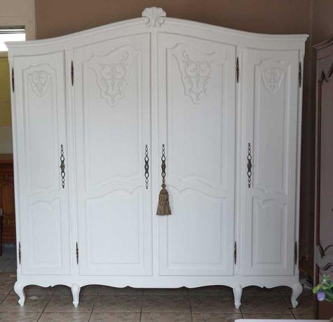 mała biała szafa ludwikowska ludwik antyki stara drewniana shabby