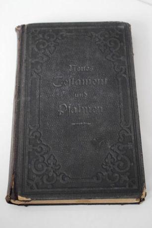 Nowy Testament Psalmy 1903r. Luterański J. Niem. Okazja !!!