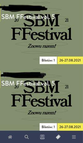 Bilet na koncert, festival sbm mafija 2-dniowy