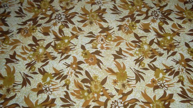 Ткань трикотин отрез - в коричневых и оливковых цветах