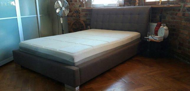 Łóżko tapicerowane z luksusowym materacem Wellpur 140x200