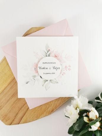nowoczesne zaproszenia na ślub z kwiatami