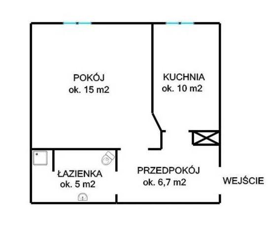 Kawalerka w Grodzisku Mazowieckim, 37 metrów