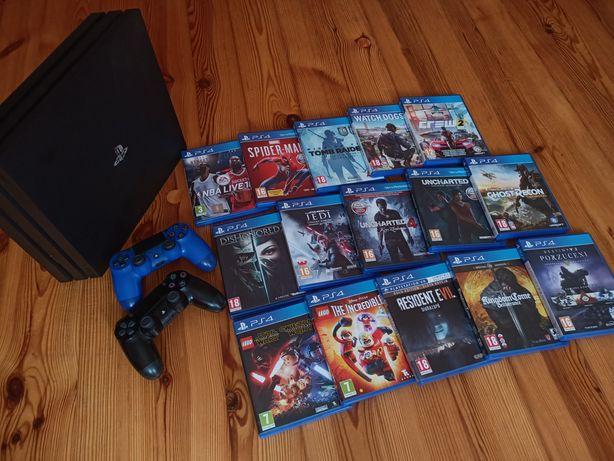 Okazja! PS4 PRO 1TB + stacja ładująca + 2pady + gry