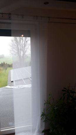 Panele do okien ,woal biały i kremowy 2szt