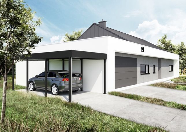 Carport, nowoczesna wiata garażowa