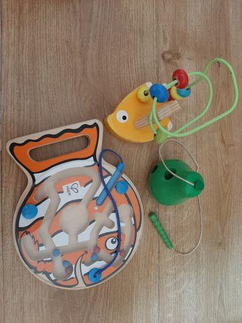 Магнитная рыбка hape E1700, лабиринт, груша шнуровка