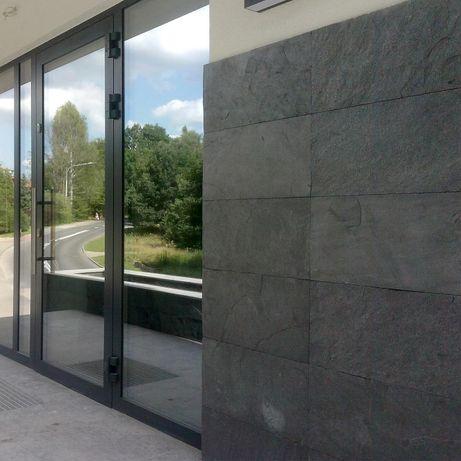 Grafitowy łupek, naturalny kamień na elewację/fasadę w kolorze szarym!