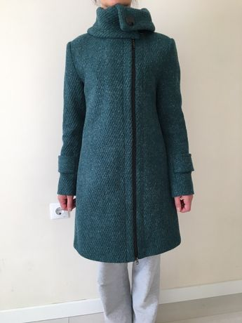 Пальто теплое в стиле zara hm mango