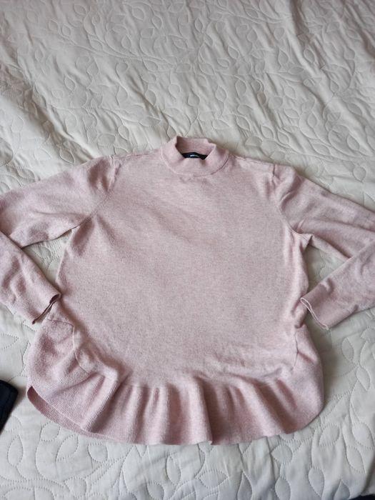 Красивая кофта свитер нежная пудрового цвета + юбка карандаш 46-48 Геронимовка - изображение 1
