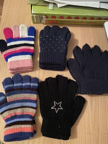 Тёплые детские зимние перчатки рукавички