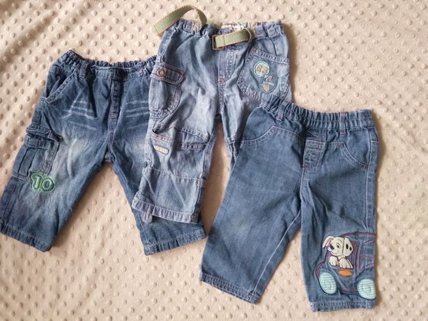 3 pary spodni JEANS roz. 62/68