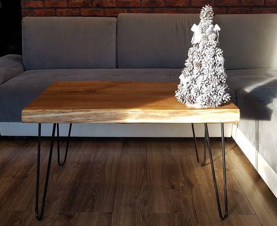 Stolik dębowy loft ,lite drewno