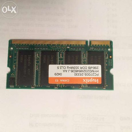 Memoria 256 MB DDR 333MHZ PC 2700S HYNIX