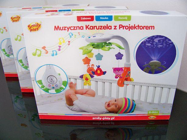 Karuzelka Karuzela Muzyczna z Projektorem do łóżeczka Wysyłka