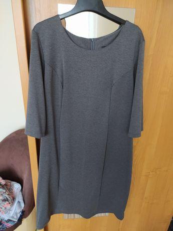 Klasyczna szara sukienka 52-54