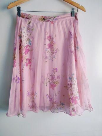 Różowa spodnica midi mohito