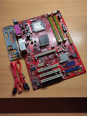 Материнская плата MSI P31 Neo V2, Socket 775, G31, DDR2, поддерж. Quad