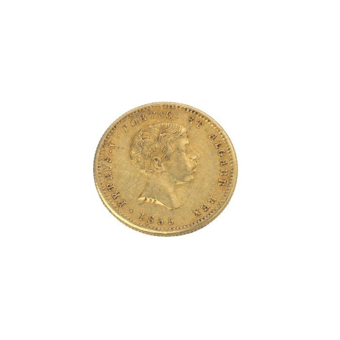 Moeda Ouro D. Pedro V Guimarães - imagem 1