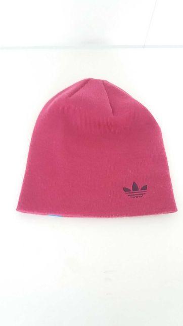 Gorro Adidas usado em bom estado cor de rosa