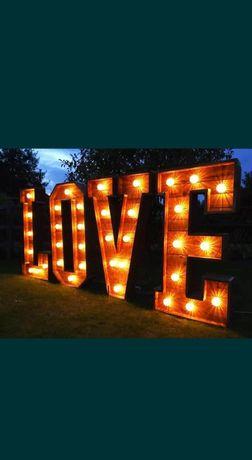 Sprzedam napis LOVE drewniany rustykalny wesele sesja ślub duży 130cm