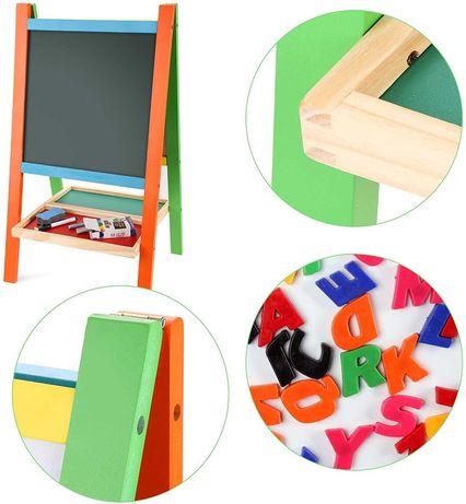 tablica magnetyczno kredowa dla dzieci drewniana