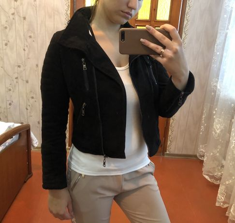 Куртка косуха замшевая