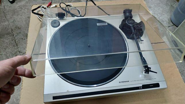 Antigo vintage gira discos Pioneer PL-120 com cabeça Shure M70BX nova