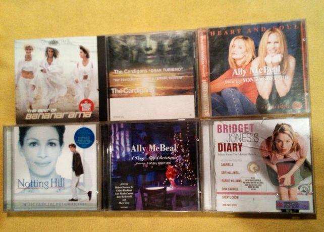 Zestaw 6 płyt CD Ally McBeal Notting Hill Bridget Joness Cardigans ..