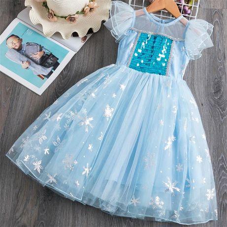 FROZEN - Fantasia Vestido Princesa ELSA - NOVO - 4 5 6 7 8 anos