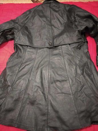 Женский кожаный плащ кожаная куртка