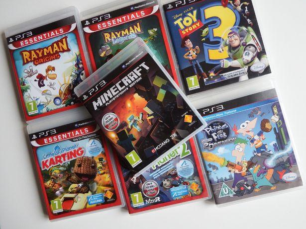 PS3 GRY DLA DZIECI Minecraft PO POLSKU Rayman Kartz Little Big Planet