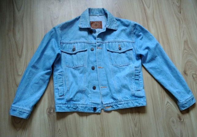 kurtka jeansowa jasna niebieska (jeansówka) r.152 Jak nowa