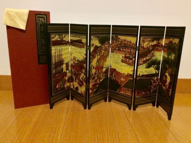 Biombo artesanal chinês original