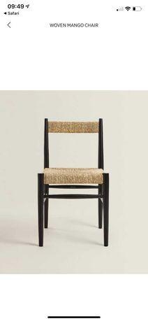 4 cadeiras ZARA HOME NOVAS pretas com corda - preço original 516€