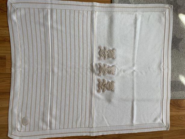 Kocyk Mayoral kremowy beżowy biały 80x100 idealny na wiosna/lato